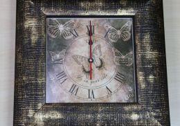 Ключница-часы бабочка - М10.04-02