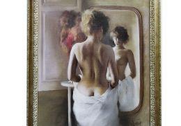 Постер Девушка в зеркале - 1670руб.