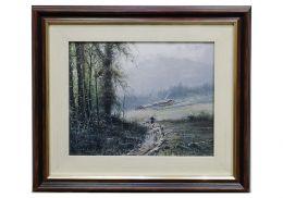 Постер Сумерки в горном селении - 1539 руб.